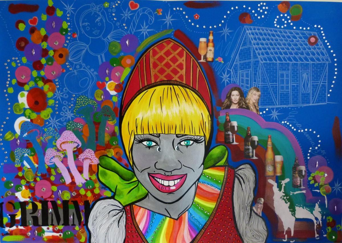 Imagens fac-similares das pinturas realizadas pela artista compõem a mostra