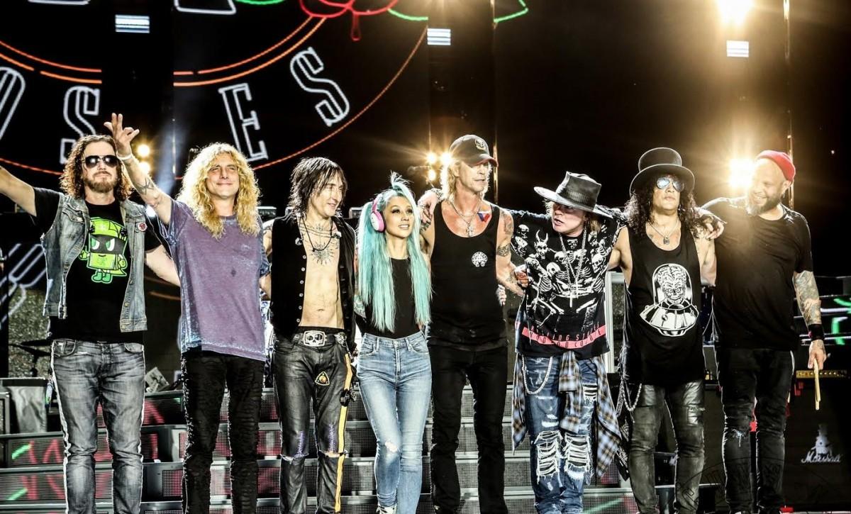 O Guns N' Roses acabou de encerrar uma turnê de seis shows no Brasil